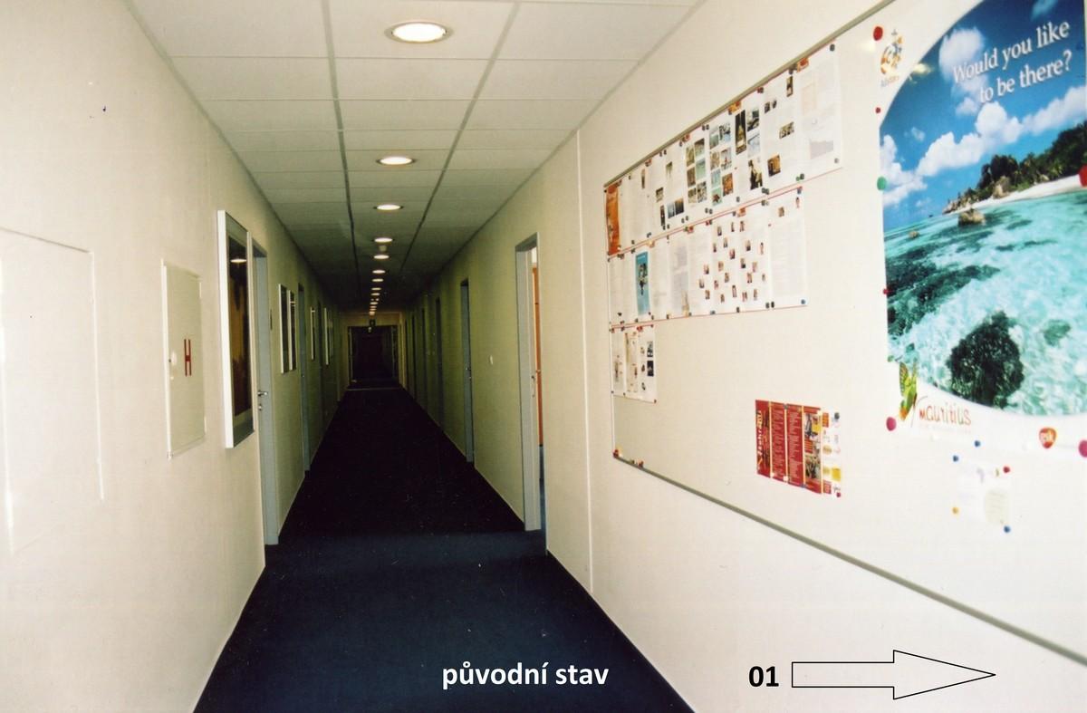 přestavba patra kancelářské budovy - CELOSKLENĚNÉ PŘÍČKY