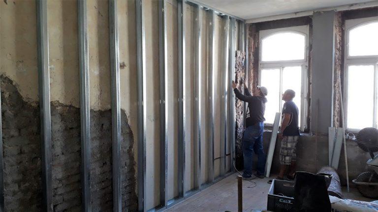 dětský pokoj bytu sádrokartonová předstěna akustické odhlučnění bytu