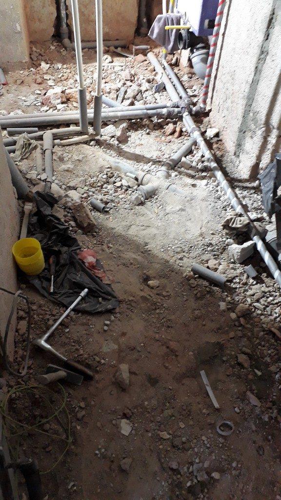 koupelna  rozvody voda odpady