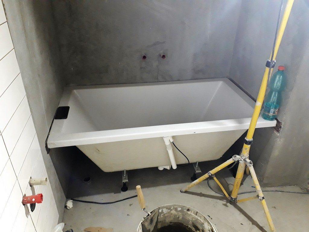 koupelna  zkouška umístění vany