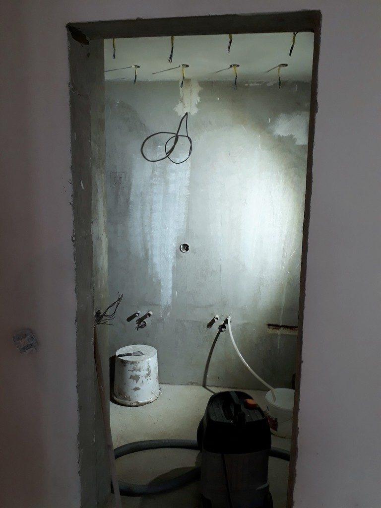 koupelna  připravenost pro obklady