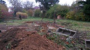 založení stavby rodinného domu stav pozemku po demolici původní stavby