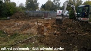 založení stavby rodinného domu odkrytí podzemních částí původní stavby