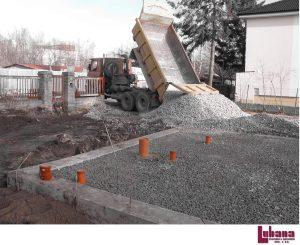 založení stavby rodinného domu štěrkové lože