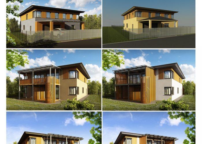 vizualizace projektu rodinného domu - POHLEDY
