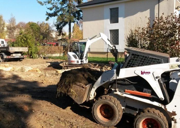 založení stavby rodinného domu zemní práce